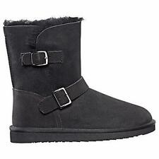 NEW Kirkland Signature Women's Shearling Buckle Boot Australian Sheepskin Us 8