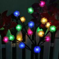 LED Glow Solar Powered Dandelion Tree Light Garden Outdoor Yard Lawn Lamp Decor