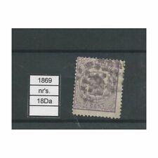 Nederland 18Ca  Wapens 1869  VFU/gebr CV 95 €