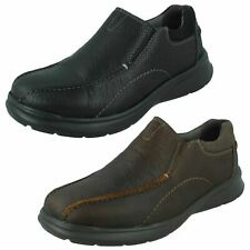 Mens Clarks 'Cotrell Step' Casual Leather Slip On Shoes - H Fitting