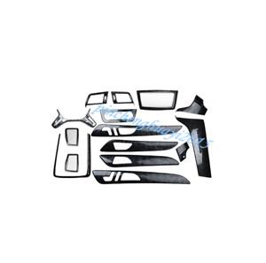 15PCS Black Wood Grain Car Interior Kit Cover Trim For Mercedes-Benz ML 12-16