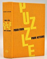 Patrick Quentin : PUZZLE POUR FOUS - POUR ACTEURS. CLP OPTA n° 29