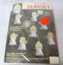 Vintage Sunset Felt Stitches Kit Christmas Tree Ornament Angels