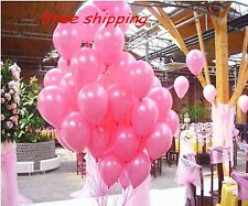 "100 pcs Pink 10"" Birthday Wedding Party Decor Latex Pearl Balloons (A12)"