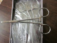 """Lot Of ~ 12 ~ Hemostats 5"""" Straight Hook Remover Self Locking Forceps Stainless"""