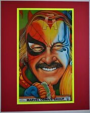 STAN LEE as MARVEL SUPER HEROES COLLAGE PROFESSIONALLY MATTED Pin Up Poster