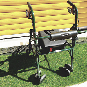 Uniscan mobility walker. Foldable, Seat and storage, Double brakes , Walking Aid