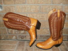 Tony Lama Tan/Brown Leather Western Boot Lady 6.5 M /Style 7450 Excellent!