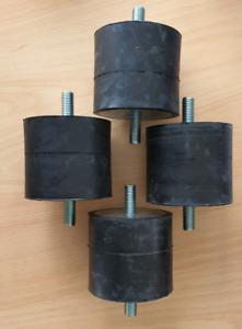 4 Stück Gummipuffer A 80x70 Schwingungsdämpfer Silentblock Gummi-Metall-Puffer