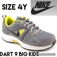 NIKE Big Kids Shoes DART 9 Youth Running Athletic Grade School Gray Grey Size 4Y
