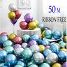 "12"" Metallic Latex Balloons Chrome Bouquet Wedding Birthday Party Supplies UK"