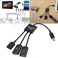 3 in1 Micro USB Power Charging OTG Hub Cable For Android Tablet Smartphone PC OK