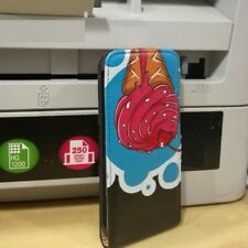 FUNDA PARA IPHONE 5 5S SE tapa iman vertical COVER CASE dibujos helado graciosa