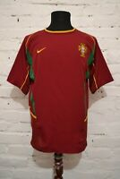 VINTAGE PORTUGAL HOME FOOTBALL SOCCER SHIRT 2002/2004 JERSEY CAMISETA MENS M