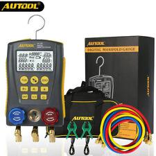 Autool Refrigeration Digital Manifold Gauge HVAC Vacuum Pressure Temp Tester Kit