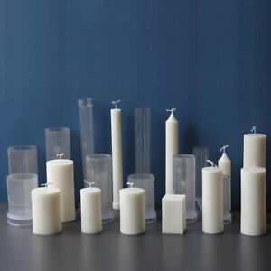 New Long Pole Candle Mold Plastic Pillar Candle Making DIY Candle Mould Supplies