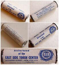 1950 Yiddish Jewish Tzedakah Box Charity Money Judaica Donation Torah Usa Dime