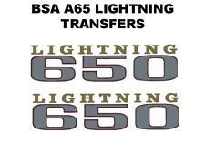 BSA A65 Eclairage 1969-70 Panneau Latéral Transferts Stickers Paire pour Moto
