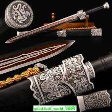 "Boutique Handmade Chinese Sword ""秦王劍"""" High Manganese Steel Sharp Blade Han Jian"