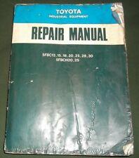 Toyota 5fbc13 5fbc15 5fbc18 5fbc20 5fbc25 5fbch20 Forklift Service Repair Manual
