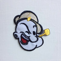 The Sailor Man Animated Cartoon Art Badge Iron or sew on Embroidered Patch