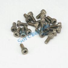 LOT 20 M4 x 10mm GR2 Titanium Hex Socket Head Cap Screw Bolt Anti Acid Corrosion