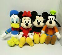 DISNEY KOHL'S CARES Set of 4  Mickey Minnie Mouse Donald Duck Goofy 14'' Plush