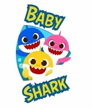 ***** BABY SHARK*******************FABRIC/T-SHIRT IRON ON TRANSFERS