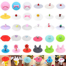 Soft Silicone Cute Cartoon Anti-dust Coffee Mug Suction Lid Cap Sealed Cup Cover