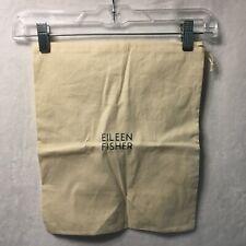 "Eileen Fisher Organic Cotton Purse Dust Bag  12x14.5"" Cinch Sack Storage Bag"