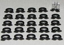 LEGO LOT OF 25 NEW BLACK MOUSTACHE MINIFIGURE BEARD PIECES
