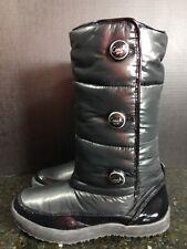 WOMEN'S COACH Black Polina Nylon puffy Winter Snow Boots Size 7.5 B