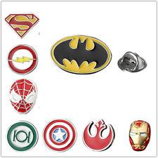 Lapel Pin Brooch Emblem Silver Red Badge Superhero Justice League Marvel Gift