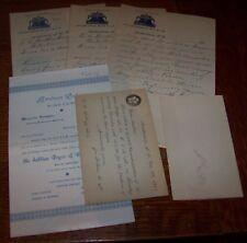 1892-1903 LOT 6 AMSTERDAM NY MASONIC DOCUMENT LETTER EPHEMERA PAPER MASONRY F&AM