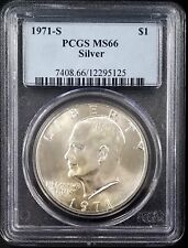 1971 S Eisenhower Dollar graded MS 66 by PCGS!