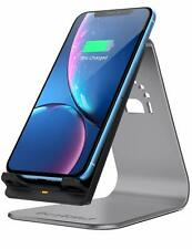 For iPhone 8 Plus Fast Wireless Charger 2-Coil Charging Stand Holder Qi Enabled