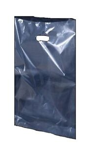 Clear Plastic Polythene Shopping Carrier Bags Party Gift Bags Security 15x18+3''