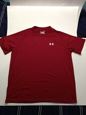 Men'S Large Loose Fit Red Under Armour Heat Gear Shirt