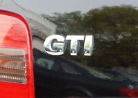 New Genuine VW GTI Rear Trunk Boot Badge Emblem Chrome 1J0853675B739 OEM