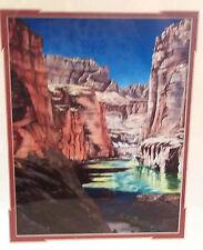 Vintage Sedona Arizona Artist Douglas Edward Andrews Red Rocks Print Sign Framed
