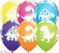 10/20 Dinosaur Dino Cuddly Latex Balloons Print Assorted Birthday Party Kids 12""