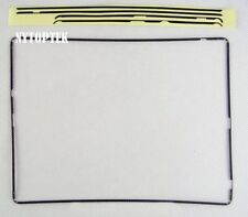 Black Digitizer Screen Plastic Bezel Middle Frame Pre Adhesive for iPad 2 3 4