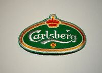 Vintage Carlsberg Beer Brewing Distributor Cloth Patch 1980s NOS New
