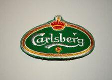 Vintage Carlsberg Beer Brewing Distributor Cloth Patch 1980s NOS New