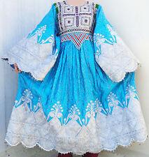 Afghan Banjara Tribal Boho Hippy Vintage Handmade Multicolored Kuchi Dress UD-03