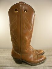 Vintage Double H Leather Cowboy Western Buckaroo Punchy Mens Tall Boots Size 8.5
