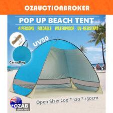 Pop Up Portable Beach Tent Canopy Sun Shade Shelter Summer Camping 4 Persons