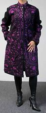 Rare All Wool Embroidered Plus size European Winter Coat. Limited Edition.