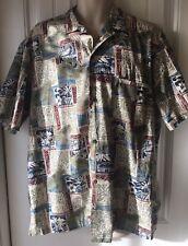 Royal Creations Men's XL 100% Cotton Hawaiian Shirt New Without Tags