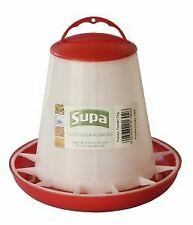 Supa Red and White Plastic Poultry Feeder 1kg - 4240